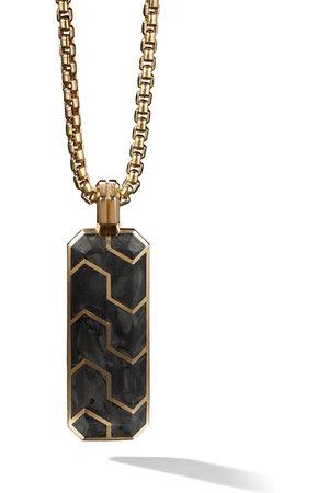 David Yurman Men Necklaces - 18kt yellow gold Forged Carbon ingot amulet - 88BFG