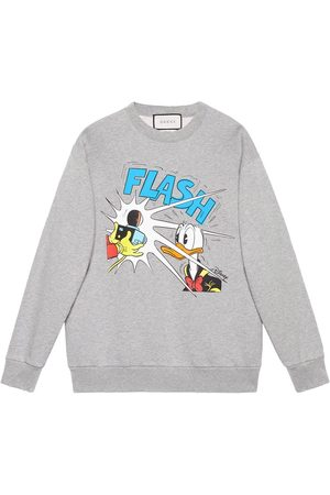 Gucci Men Sweatshirts - X Disney Donald Duck sweatshirt - Grey