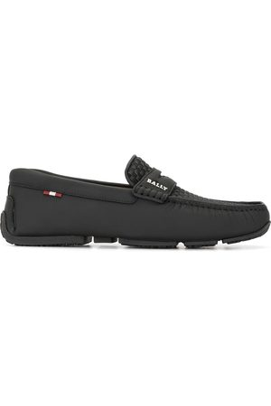 Bally Woven slip on loafers