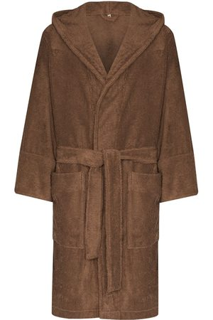 Tekla Men Bathrobes - Belted hooded bathrobe