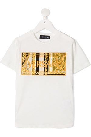 VERSACE Barocco embroidered-logo t-shirt