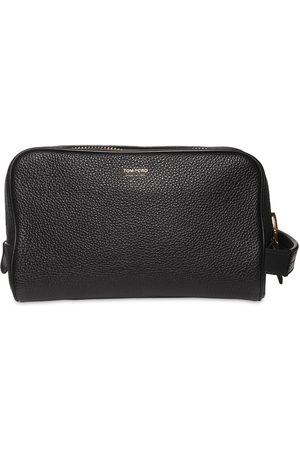 Tom Ford Leather Zip Toiletry Bag W/handle