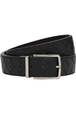 Bottega Veneta 3.5cm Intreccio Reversible Leather Belt