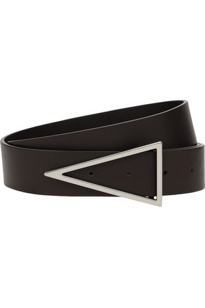 Bottega Veneta 3cm V Buckle Leather Belt