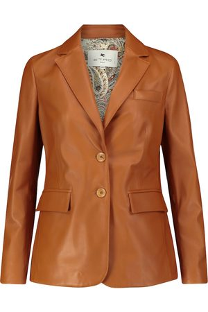 Etro Leather blazer