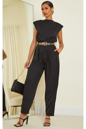 PRETTYLITTLETHING Shoulder Pad Tailored Woven Jumpsuit