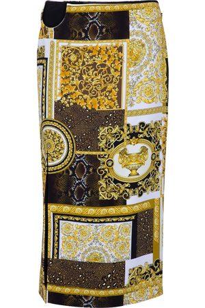 VERSACE Barocco printed pencil skirt
