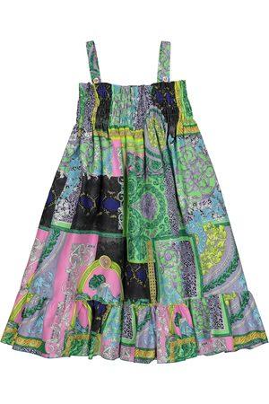VERSACE Printed cotton dress