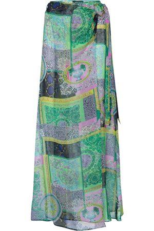VERSACE Printed silk sarong