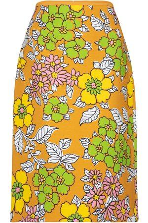 Tory Burch High-rise floral midi skirt