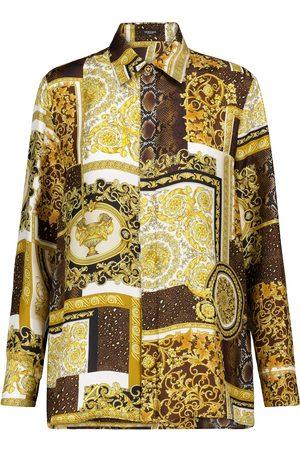 VERSACE Barocco printed silk twill shirt