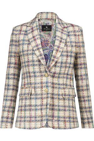 Etro Checked bouclé tweed blazer