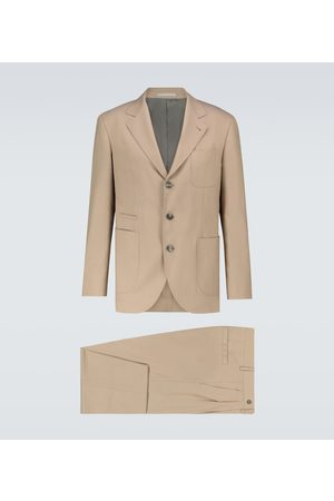 Brunello Cucinelli Wool and cotton-blend suit