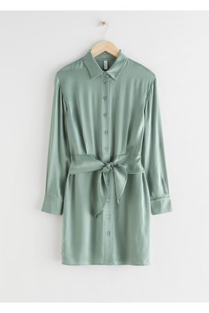 & OTHER STORIES Oversized Belted Mini Shirt Dress