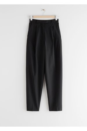 & OTHER STORIES Tapered Wool Blend Press Crease Trousers