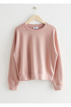 & OTHER STORIES Relaxed Cropped Cotton Sweatshirt