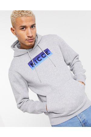 Nicce London Alto ombre logo hoodie in -Grey