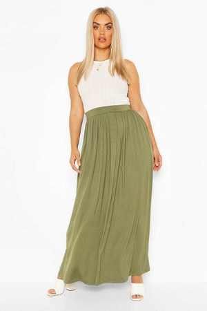 Boohoo Womens Plus Floor Sweeping Jersey Maxi Skirt - - 12