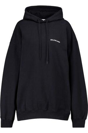 Balenciaga Logo cotton jersey hoodie