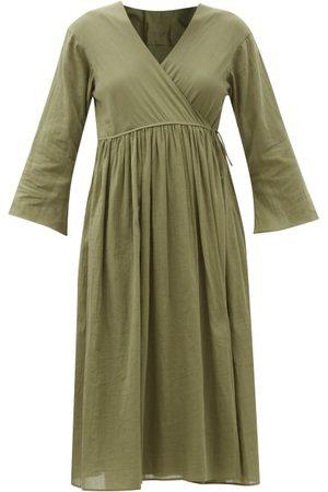 Loup Charmant Byblos Organic-cotton Voile Wrap Dress - Womens