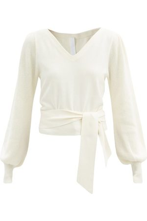 MERLETTE Phillimore Puff-sleeve Cotton-blend Sweater - Womens - Ivory