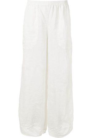 Armani Cropped wide-leg linen trousers