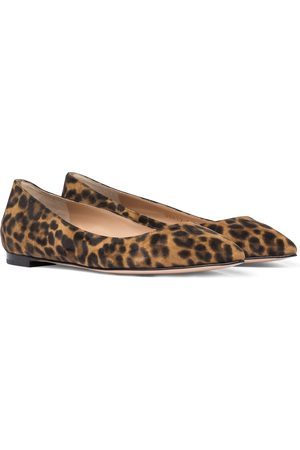 Gianvito Rossi Gianvito leopard-print ballet flats
