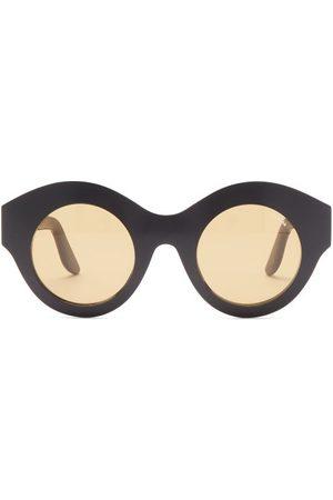 LAPIMA Vera Oversized Round Acetate Sunglasses - Womens