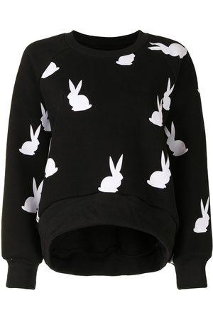 Cynthia Rowley Flynn flocked bunnies sweatshirt