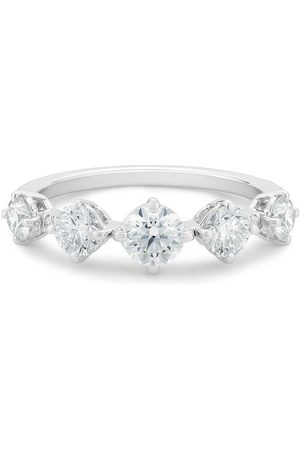 De Beers Jewellers 18kt white gold Arpeggia diamond one row ring