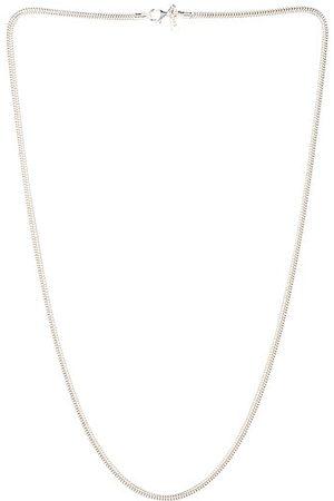 LOREN STEWART Snake Chain Necklace in Metallic