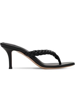 Gianvito Rossi 70mm Tropea Braided Leather Thong Sandal