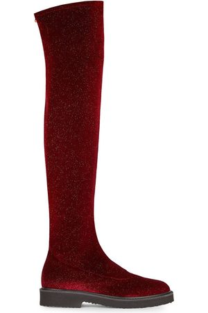 Giuseppe Zanotti Velvet over-the-knee boots