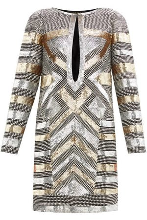 Dundas Women Party Dresses - Sequin And Crystal-embellished Silk Mini Dress - Womens