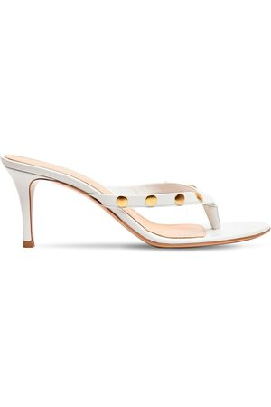 Gianvito Rossi 70mm Studded Leather Thong Sandals