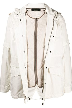 Mr & Mrs Italy X Nick Wooster layered padded jacket - Neutrals