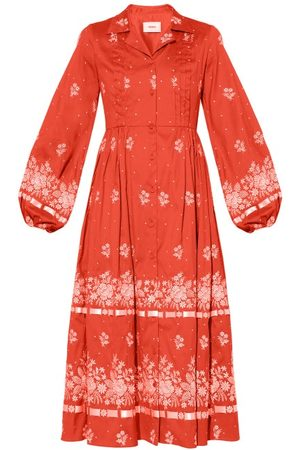 Erdem Broderick Floral-embroidered Cotton-blend Dress - Womens
