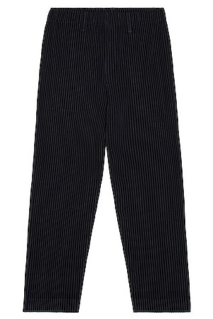 HOMME PLISSÉ ISSEY MIYAKE Straight Leg Trousers in Navy