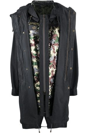 Mr & Mrs Italy X Audrey Tritto camouflage sequin parka - Grey