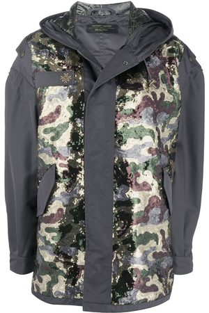 Mr & Mrs Italy X Audrey Tritto camouflage panel parka - Grey