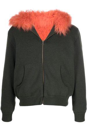 Mr & Mrs Italy Reversible fur-lined hoodie