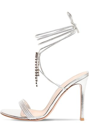 Gianvito Rossi 105mm Dynasty Metallic Leather Sandals