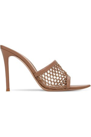 Gianvito Rossi Women Mules - 105mm Mesh & Leather Net Mules
