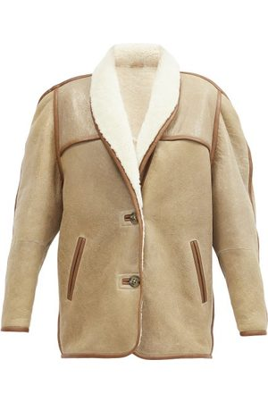 Isabel Marant Women Leather Jackets - Anawa Shearling Jacket - Womens