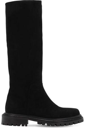 Aquazzura 30mm Sky Suede Tall Boots