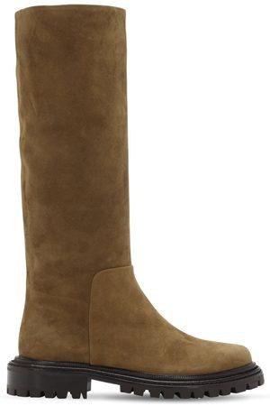 Aquazzura Women Thigh High Boots - 30mm Sky Suede Tall Boots
