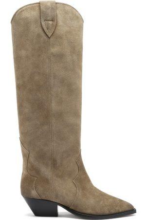Isabel Marant Women Thigh High Boots - Denvee Suede Knee-high Boots - Womens
