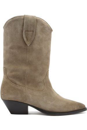 Isabel Marant Duerto Suede Western Boots - Womens