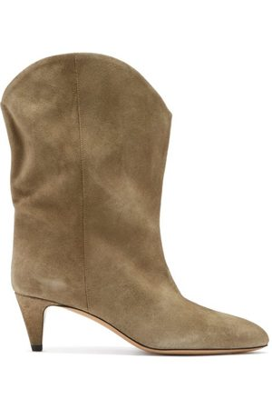 Isabel Marant Dernee Point-toe Suede Ankle Boots - Womens