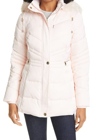 Ted Baker Women's Maliiva Quilted Faux Fur Trim Parka